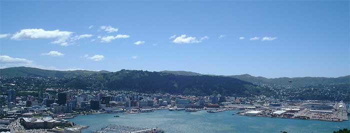 View towards the CBD of Wellington City.