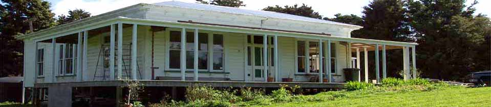 The old Davidson house being restored in Hikurangi